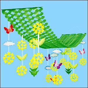 春の装飾 菜の花ハンガー L150cm / 飾り ディスプレイ|event-ya