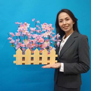 春の装飾 桜垣根アレンジ W57cm / 飾り ディスプレイ|event-ya
