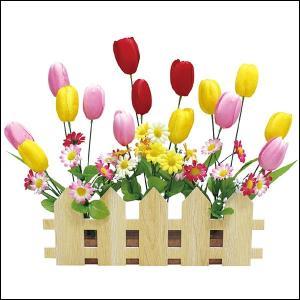 春の装飾 チューリップ垣根スタンド W51cm / 飾り ディスプレイ|event-ya
