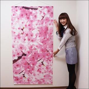 桜タペストリー 桜枝満開 防炎加工 L180cm / 春 装飾 飾り ディスプレイ|event-ya