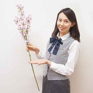 桜装飾 小桜大枝スプレー H90cm 1本 / 飾り ディスプレイ 春 店舗装飾|event-ya