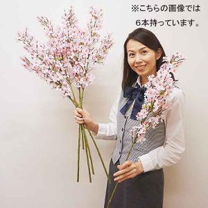 桜装飾 小桜大枝スプレー H90cm 12本セット / 飾り ディスプレイ 春 店舗装飾|event-ya