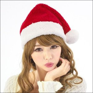 ふわもこサンタ帽子 レッド / クリスマス・かぶりもの・キャップ|event-ya