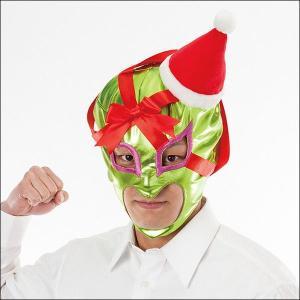 [¥2500⇒¥1500]クリスマスプレゼントかぶりもの 覆面プレゼントマン 覚醒【サンタ・帽子・キャップ】|event-ya