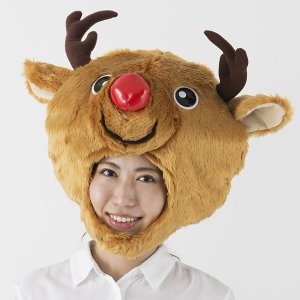 [在庫のみ特価]クリスマストナカイかぶりもの トコトコトナカイあたま[帽子 キャップ]|event-ya
