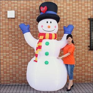 クリスマスエアブロー装飾 スノーマン ジョイフル H260cm / ディスプレイ エアブロウ 雪だるま/ 動画有|event-ya
