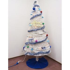 【在庫限り!半額】18,000⇒9,000円(税別) クリスマスツリー ホワイトパラソルツリー 180cm / ディスプレイ 飾り|event-ya