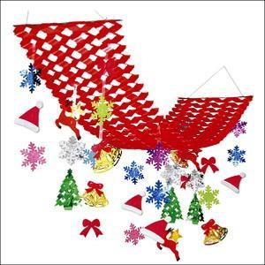 クリスマス装飾 サンタ・スノープリーツハンガー L150cm / 飾り ディスプレイ|event-ya