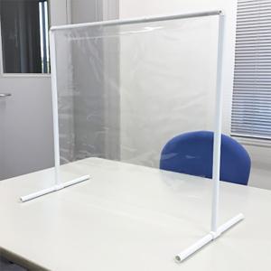 飛沫防止パーテーション 感染防止用ビニールカーテン 卓上タイプ W67×H60cm / 飛沫対策 コロナ 感染防止 フェイスガード パーテーション 対面カバー|event-ya