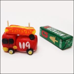 [在庫限り特価] 高学年用オリジナル型キャンドル作り 8個セット 消防車/工作 蝋細工 ロウソク/メール便可|event-ya