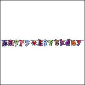 バナー ハッピーバースデー スパーク 【誕生日・パーティー・ディスプレイ・装飾】|event-ya