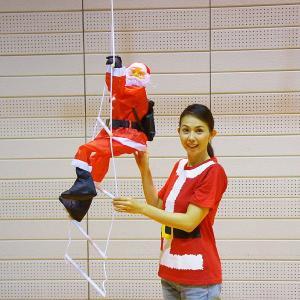 クリスマス装飾 はしごサンタ 本体80cm / 飾り ディスプレイ デコレーション|event-ya
