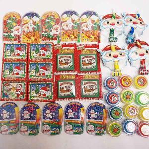 クリスマスおもちゃ色々150個セット、XMASバック50枚付|event-ya