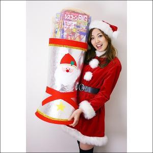 全長80cm ジャンボサンタブーツ お菓子入り ブーツ高63cm / クリスマス プレゼント 景品|event-ya