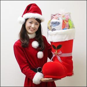 全長60cm 赤のジャンボサンタブーツ お菓子入り ブーツ高50cm / クリスマス プレゼント 景品|event-ya