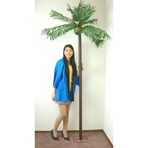 夏装飾 グリーンヤシの木 立木セット H200cm[夏 ディスプレイ 南国]|event-ya