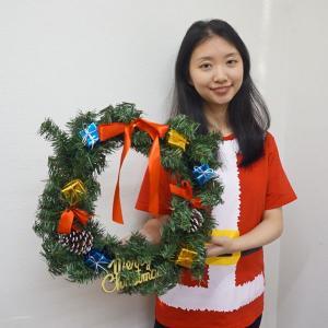 クリスマス装飾 バリューリース 45cm / 飾り付け ディスプレイ デコレーション|event-ya