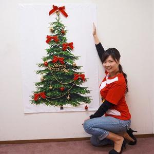 クリスマス装飾 立体タペストリー(オーナメント19個付き) もみの木 ボール&リボンセット H125cm|event-ya
