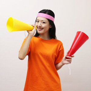 29cm メガホン 12本セット / 応援 運動会 体育祭 拡声器|event-ya