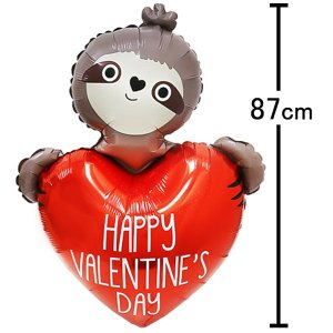 バレンタイン風船 バレンタインスロース H87cm [バルーン] event-ya