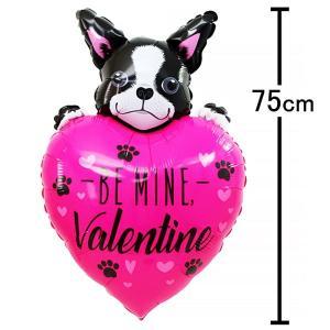 バレンタイン風船 フレンチブルドッグ H75cm [バルーン] event-ya