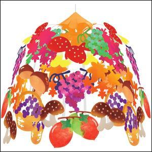 秋の装飾 秋の味覚祭2段センター W60cm|event-ya