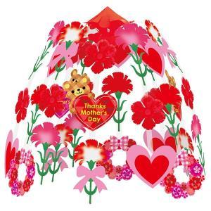 母の日装飾 カーネーションリース2段センター H60×W60cm / 飾り ディスプレイ 店舗 event-ya