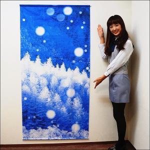 ウィンター装飾 タペストリー 雪景色 / 冬 ディスプレイ 飾り|event-ya