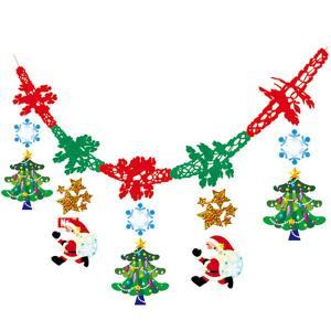 クリスマス装飾 ガーランド サンタソリ L180cm / 飾り ディスプレイ|event-ya