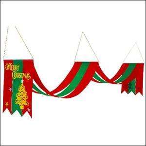 クリスマス装飾 クリスマスペナント 2連スターツリー L160cm|event-ya