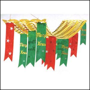 クリスマス装飾 クリスマスペナント ゴールドハンガー L180cm|event-ya