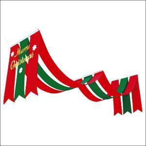 クリスマス装飾 クリスマスペナント タイトル2連ペナント L140cm|event-ya
