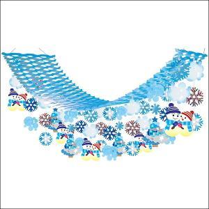 ウインター装飾 雪だるまスノーハンガー L180cm / 冬 雪 ディスプレイ 飾り|event-ya