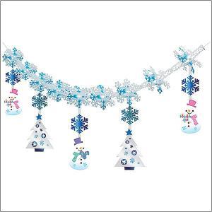 ウインター装飾 ハートスノーマン ガーランド L180cm / 冬 雪 ディスプレイ 飾り|event-ya