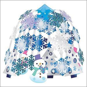 ウインター装飾 ハートスノーマン2段センター W60cm / 冬 雪 ディスプレイ 飾り|event-ya