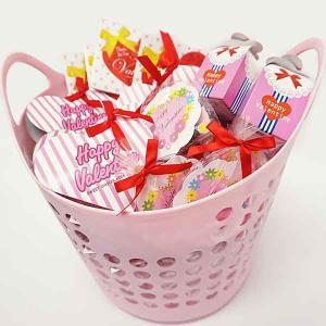 バレンタイン義理チョコ プレゼントチョコ色々50個バスケット|event-ya