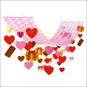 バレンタイン装飾  チョコハートハンガー L180cm|event-ya