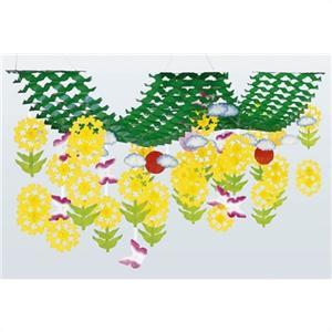 春の装飾 菜の花2連プリーツハンガー L200cm / 飾り ディスプレイ|event-ya