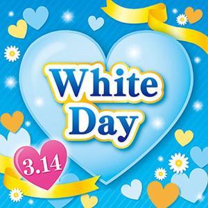 ホワイトデー装飾 テーマポスター 38×38cm 両面 10枚 / ディスプレイ 飾り|event-ya