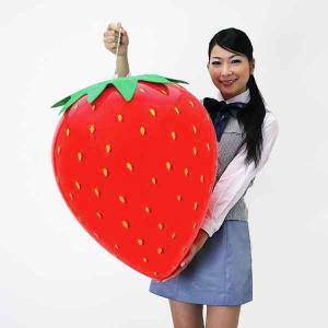 イチゴ装飾 ビニールエアPOPバルーン いちご H63×W51cm / 飾り ディスプレイ 春|event-ya