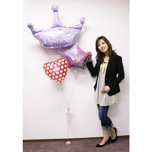 誕生日デコレーションバルーン プリンセスクラウン 【バースデーバルーン】|event-ya