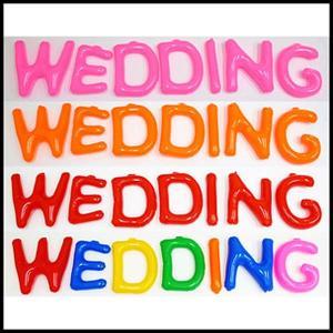 英語(英字)POPバルーン「WEDDING」 / アルファベット バルーン 風船  [動画有り]|event-ya