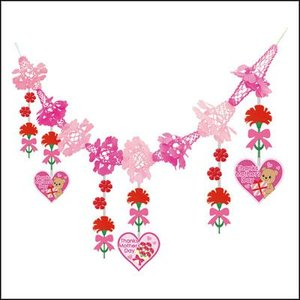 母の日装飾 カーネーションガーランド L180cm / 飾り ディスプレイ|event-ya