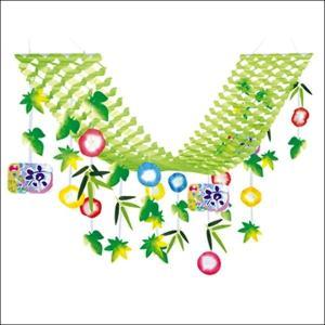 夏装飾 朝顔涼プリーツハンガー L180cm / あさがお 飾り付け ディスプレイ|event-ya