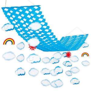 夏のマリンブルー装飾 カモメ虹サマーハンガー  L150cm【夏・海・ディスプレイ・装飾・飾り】|event-ya