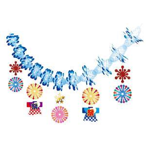 夏祭り装飾   お祭り花火ガーランド L180cm / 装飾 飾り ディスプレイ|event-ya