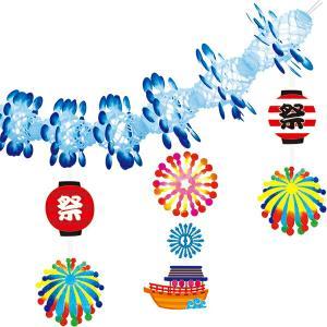 夏祭り装飾   盛夏花火ガーランド L180cm/ディスプレイ 装飾 飾り|event-ya