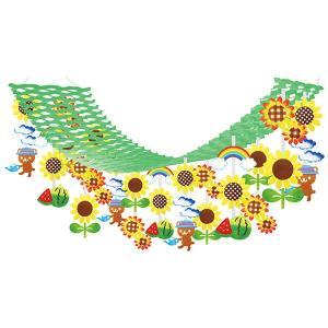 夏装飾 真夏のひまわりプリーツハンガー L180cm / 向日葵 ヒマワリ 飾り ディスプレイ|event-ya
