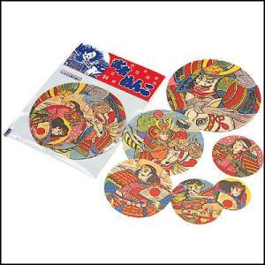 昔なつかし民芸玩具 武者絵メンコセット[めんこ・メンコ](50袋)|event-ya