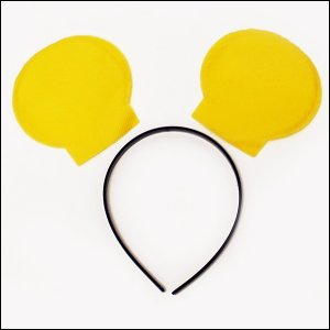 手作り衣装ベース 動物の耳 カチューシャ付 黄色|event-ya